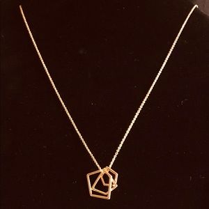 Jewelry - New Gold Toned Geometric Pendant Necklace
